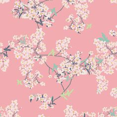 Pink Cherry Blossom, Modern Cotton Fabric, Pandalicious, Art Gallery, Yinghua Cherrylight, Katarina Roccella  This listing is for Yingua Cherrylight from Art Gallerys darling collection Pandalicious.  100% quilting weight cotton 44 / 45 wide  You can select the length of cut you would like, as well as the quantity in the drop down menus above the green add to cart button. We cut continuously to allow you to cut as you please for your project.  If you have any questions about this listing or…