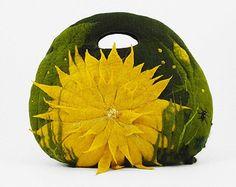 Felted Clutch Art Purse ALICE IN WONDERLAND Bag handbag by filcant