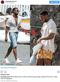 everyone wants to know who michael b jordan is fucking. the thing is, michael claims he likes black vixens, but gets allegedly caught Suit Fashion, Fashion 2020, Mens Fashion, Black Boys, Black Men, Summer Swag Outfits, Michael Bakari Jordan, Bae, Man Crush Everyday