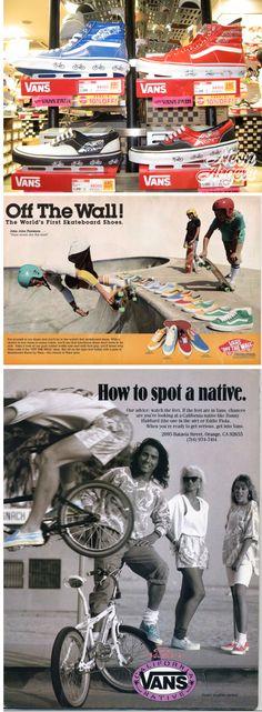vintage vans shoe ads