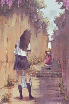 art and illustration Bild Arte Indie, Manga Anime Girl, Anime Girls, Anime Scenery Wallpaper, Korean Art, Aesthetic Art, Cool Drawings, Kawaii Anime, Cute Art