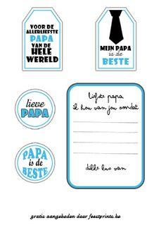 Gratis vaderdagprints in het Nederlands! Diy For Kids, Crafts For Kids, Father's Day Diy, Fathers Day Crafts, Kids Church, Fb Page, Mom And Dad, Free Printables, Prints