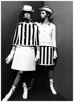 Fashion Obituary: André Courrèges, Lord of the Space Ladies 1960s Fashion, Fashion Moda, New Fashion, Vintage Fashion, Fall Fashion, Classic Outfits, Simple Outfits, Style Année 60, Fancy Skirts