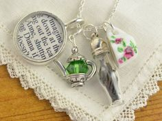 Tea with Anne of Green Gables Book Charm Necklace - Jewelry for Book Lovers - Girls Tea Party Necklace - 30% Off with Code: VALENTINE14 on Etsy, $52.67 AUD