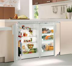 Under Counter Fridge, Bus Living, Cottage Kitchens, Flat Ideas, Kitchen Cart, Kitchen Ideas, Cooking Gadgets, Hearth, Refrigerator