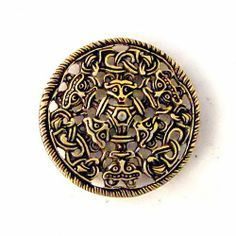 5,5 cm wide #Viking Age #mount in #Borre Style, ca. 950 AD. A very nice addition for #historical articles of leather. Available in wholesale and retail at www.peraperis.com - 5.99 €