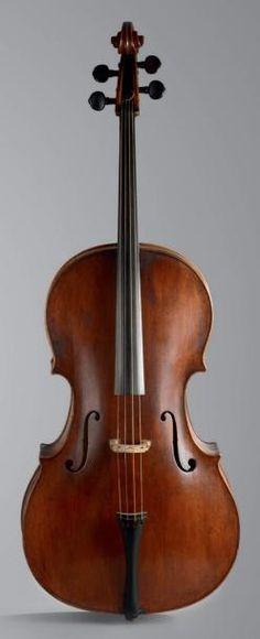 456 250 € Michael PLATNER (1684-1752) #Violoncelle. Rome, vers 1730-1735. Dim. : 76,8 cm OVV Oger - Blanchet, vente le 12 mars 2014