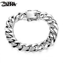 There is always many products on sae upto - ZABRA Luxury 925 Sterling Silver Bracelets Man High Polish Curb Link Chain Bracelet for Men Vintage Punk Rock Biker Mens Jewelry - Fast Mart Metal Bracelets, Link Bracelets, Bracelets For Men, Sterling Silver Bracelets, Bangles, Silver Rings, Punk Rock, Armband Vintage, Wholesale Silver Jewelry