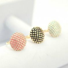 $2.39 Cute Style Colorful Dot Pattern Ring