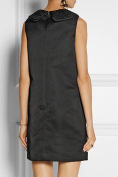 Dolce & Gabbana|Mini-robe en satin duchesse floquée de velours