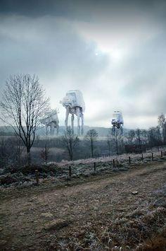 Star Wars in Bieszczady Artist: Marcin Trojanowski