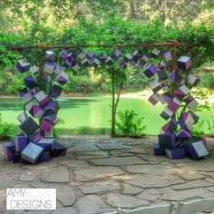 This wedding ceremony is so unique! Definitely one of a kind! Location Nestldown #geometric