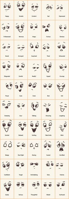 Decorative Rocks Ideas: Hand drawn funny expressions vector icons GooLoc … – - New Deko Sites Doodle Drawings, Easy Drawings, Funny Drawings, Drawing Cartoons, Cartoon Art, Zentangle Drawings, How To Draw Cartoons, Cute Cartoon Eyes, Cartoon Eyes Drawing