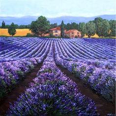 Lavender Summer by Jennifer Vranes, painting by artist Jennifer Vranes