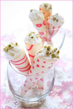 patterned Tuiles  Candy Striped Cookie Sticks Martha Stewart