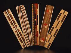 inlaid wood bookmarks