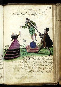from the album of Melchior Pfinzing (entries 1591-6). Weimar, Herzogin Anna Amalia Bibliothek,Stb.306, via the Library website,