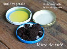 recette cosmétique naturel : Gommage corporel au marc de café #slowcosmetic #DIY #cosmétiques