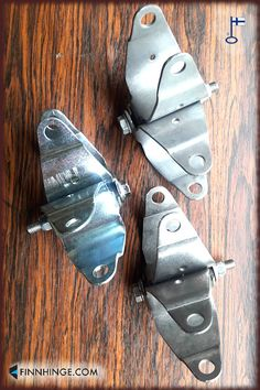 Three of our self-closing safety gate spring hinges for pipe railings. These are for D 42 mm pipes and can be acid resistant, electro- or hot-dip galvanized. See other options on our website! Made in Finland, worldwide delivery possible. Pipe Railing, Safety Gates, Gates And Railings, Gate Hinges, Industrial Safety, Spring Hinge, Metalworking, Pipes, Finland