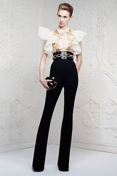 Sarah Burton collection for Alexander McQueen Resort 2013 inspired by David Bowie rock glam #Fashion