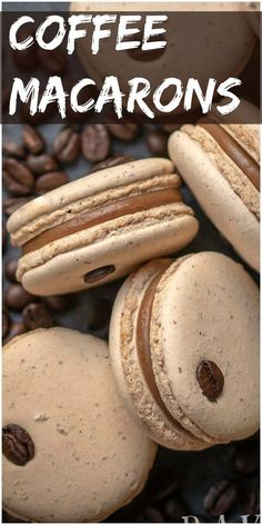 Coffee Macaron Recipe is a combination of a creamy coffee flavored white cho. - Coffee MacarYou can find Macaroons and more on our website.Coffee Macaron Recipe is a combination of a creamy coffee flavored whit. Smores Dessert, Coffee Dessert, Dessert Tables, French Macaroon Recipes, French Macaroons, French Desserts, French Macaron Filling, French Macarons Recipe Flavors, Easy Macaron Recipe