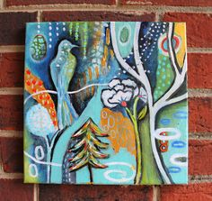 Items similar to Enchanted Winter on Etsy Enchanted, Modern Art, Original Artwork, Wall Art, Unique Jewelry, Handmade Gifts, Artist, Painting, Vintage