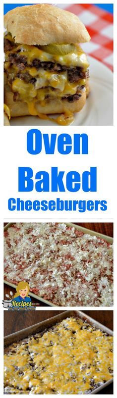 Oven Fried Cheeseburger Sliders - Simple to make and delicious. #cheeseburgers #sliders #burgers #oven baked cheeseburger sliders