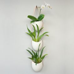 Elevate any space with the 3-Tier Porcelain and Leather Hanging Planter. This handmade piece is accented by genuine leather and brass hardware.
