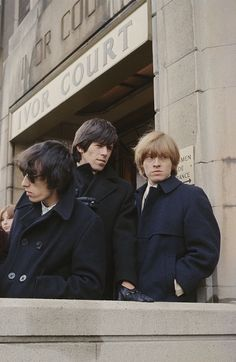 posed outside Ivor Court, the home of their manager Andrew Loog Oldham, in Gloucester Place, London, c. 1964