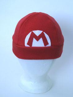 Nintendo Mario Fleece Hat FOR KIDS
