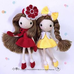 Twice Sister Love amigurumi dolls. (Inspiration).♡