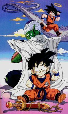 Goku, Piccollo san, Gohan Camino de la Serpiente Dragon Ball Z