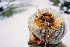 A winter corsage by Akiko Seki ; Gardenista