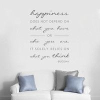 Vinyl Wall Decal Sticker Sign Buddha Words Happiness People Love Bedroom r292