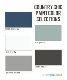 My first quarter paint color selections with #countrychicpaint. Love these chalk-based paint colors!