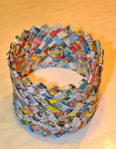 Korb aus Comix / Basket made from comic books / Upcycling