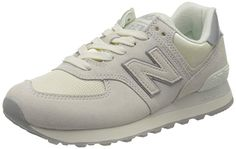 New Balance, 574 Sateen Tab Suede Mesh White, New Balance, Women's Skirts, Sneakers, Mesh, Stuff To Buy, Shoes, Clothes, Shoes Sport, Handbags