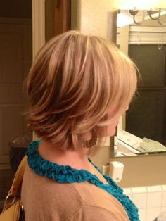 Fun Short Layered Hairstyle for Women...maybe new haircut??