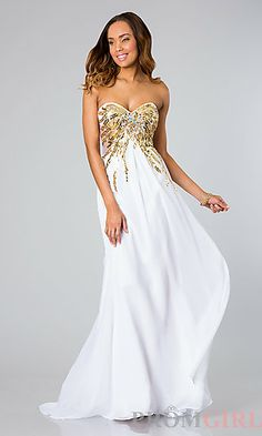 Strapless Gown with Open Back by Alyce Paris 6207 at PromGirl.com