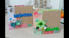 Estructura mini album con sobres de papel craft y carton recilado DIY de...