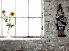 distressed white painted brick http://www.homeanddecor.net/wp-content/uploads/2011/12/rustic-interior-design-turquoise-5.jpg