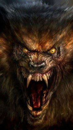 Tiger Artwork, Wolf Artwork, Weird Creatures, Mythical Creatures, Bigfoot Photos, Wolverine Art, American Werewolf In London, Werewolf Art, Horror Artwork