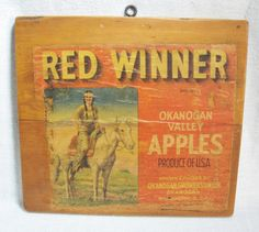 Red Winner Apples Sign. SOLD