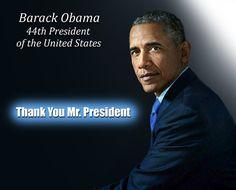 Thank You Mr. President Barack Obama 44th President❤❤❤