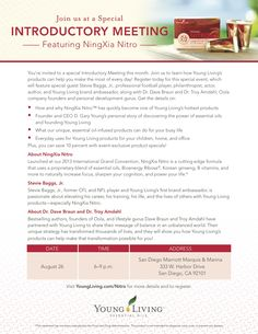 Young Living Introductory Meeting Featuring NingXia Nitro