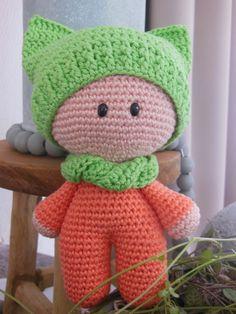 Capuchon poppetje gehaakt <3 crochet doll
