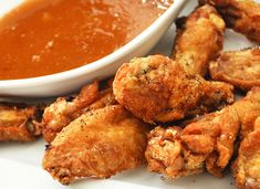 Spicy Chicken Wings with Mango-Habanero Sauce