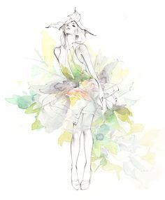 Erin Marie Illustration #fashionillustration #thumbelina #illustration #drawing
