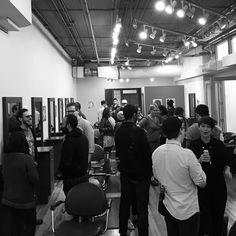 It's a packed house at @royalehairparlor for @gallerywalkbtown. #firstfriday #mybtown