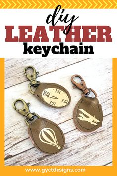 Consider making a simple DIY leather keychain for gifts this holiday season or for graduation gifts.
